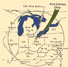 Location of site on Ohio map